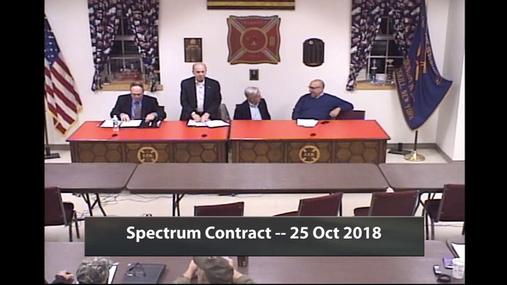 Spectrum Contract --  25 Oct 2018