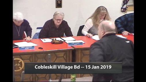 Cobleskill Village Bd -- 15 Jan 2019