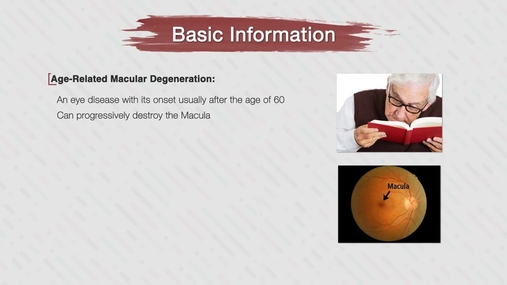 Age-Related Macular Degeneration Part 1