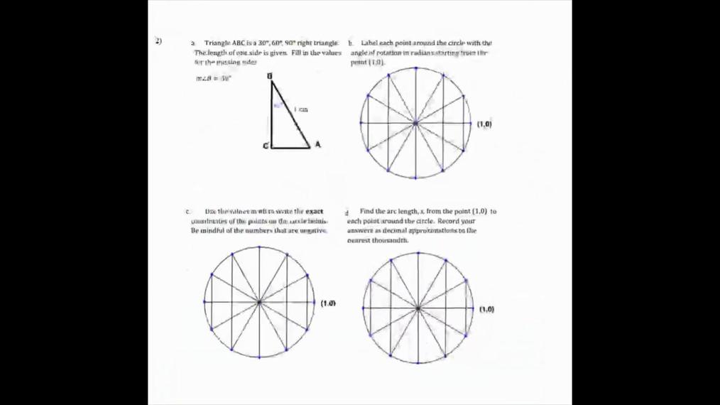 Homework Help Sine, Cosine and the Unit Circle Question 2.mp4