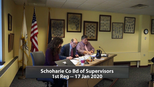 Schoharie Co Bd of Supervisors 1st Reg, -- 17 Jan 2020
