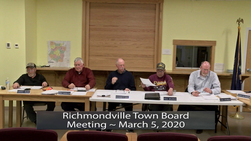 R'Ville Twn Board Meeting -- March 5, 2020