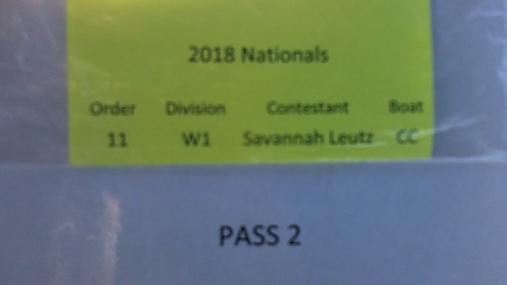 Savannah Leutz W1 Round 1 Pass 2