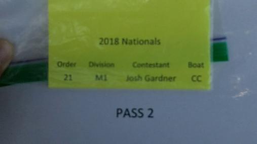 Josh Gardner M1 Round 1 Pass 2