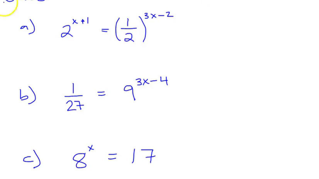 Solving Exponential Equations.mp4