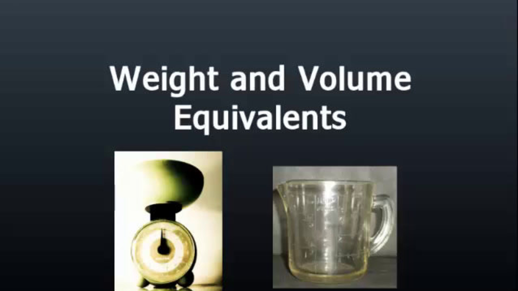 Weight and Volume Equivalents.mp4