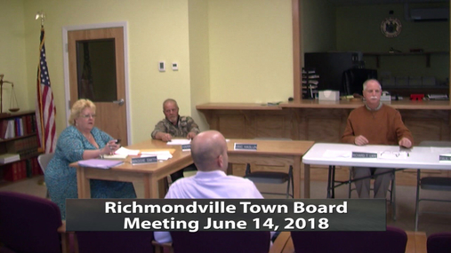 Richmondville Town Board -- June 14, 2018
