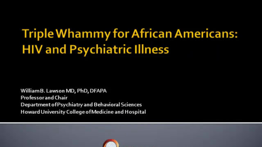 Triple Whammy for African Americans:  HIV and Substance Abuse