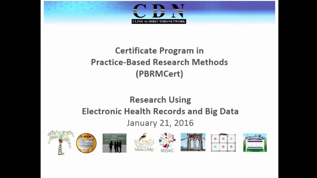 Practiced Based Research Methods Research Using Electronic Health Records and Big Data