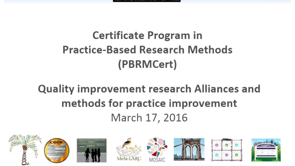 Quality Improvement Research Alliance and Methods for Practice Improvement