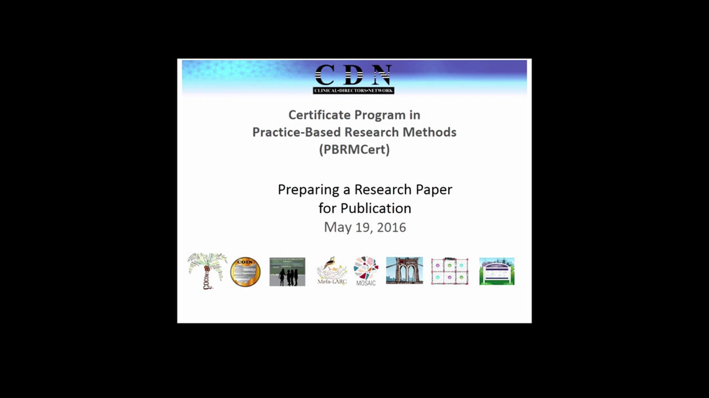 Writing PBRN Research for Publication, and Methods of Research Dissemination