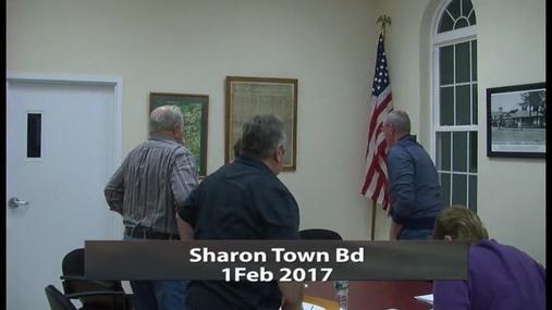 Sharon Town Bd -- 1 Feb 2017
