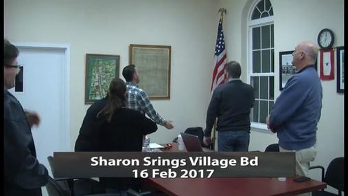 Sharon Springs Village Bd _ 16 Feb 2017
