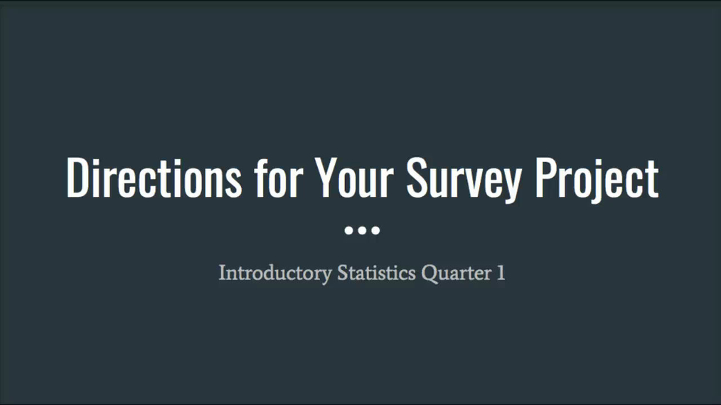 Survey Project Directions