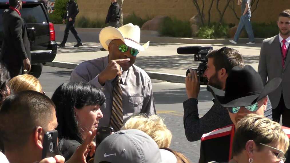 Cowboy Troy arriving to the 52nd Academy Of Country Music Awards at T-Mobile Arena in Las Vegas.mp4