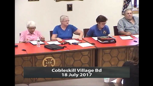 Cobleskill Village Bd -- 18 July 2017