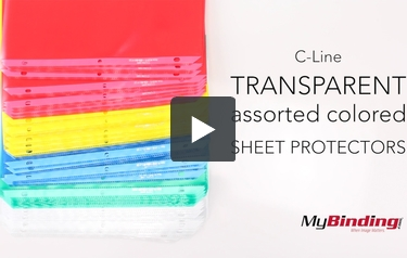 C-Line Transparent Assorted Colored Sheet Protectors - 50pk