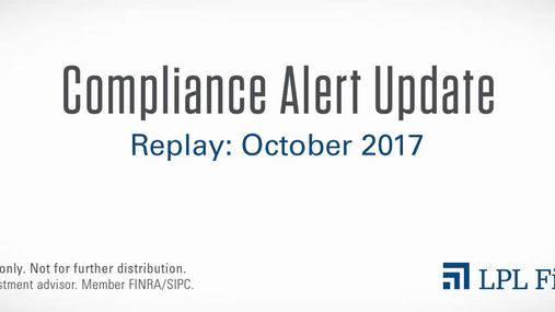 Compliance Replay: October 2017