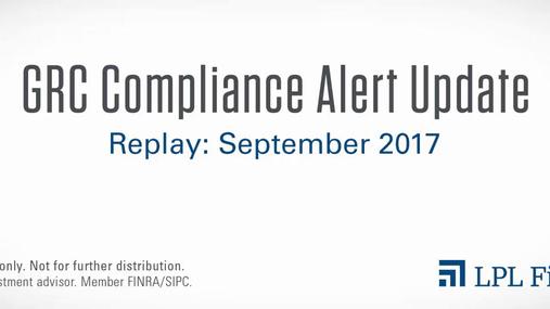 GRC Compliance Replay: September 2017