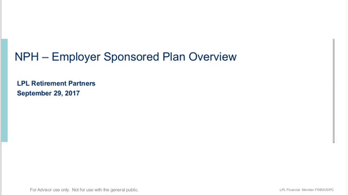 Options for Your Employer Sponsored Plan Business at LPL