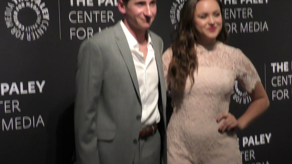 Sam Lerner and Hayley Orrantia at the Paley Center Presents The Goldbergs 100th Episode Celebration at Paley Center in Beverly Hills.mp4