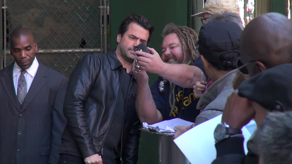 Ron Livingston outside the BUILD Series in New York.mp4