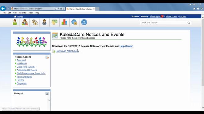 KaleidaCare Billing Module Demonstration with Centerstone
