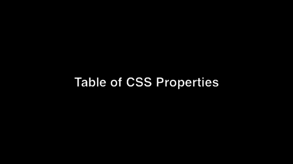 Table of CSS Properties.mp4