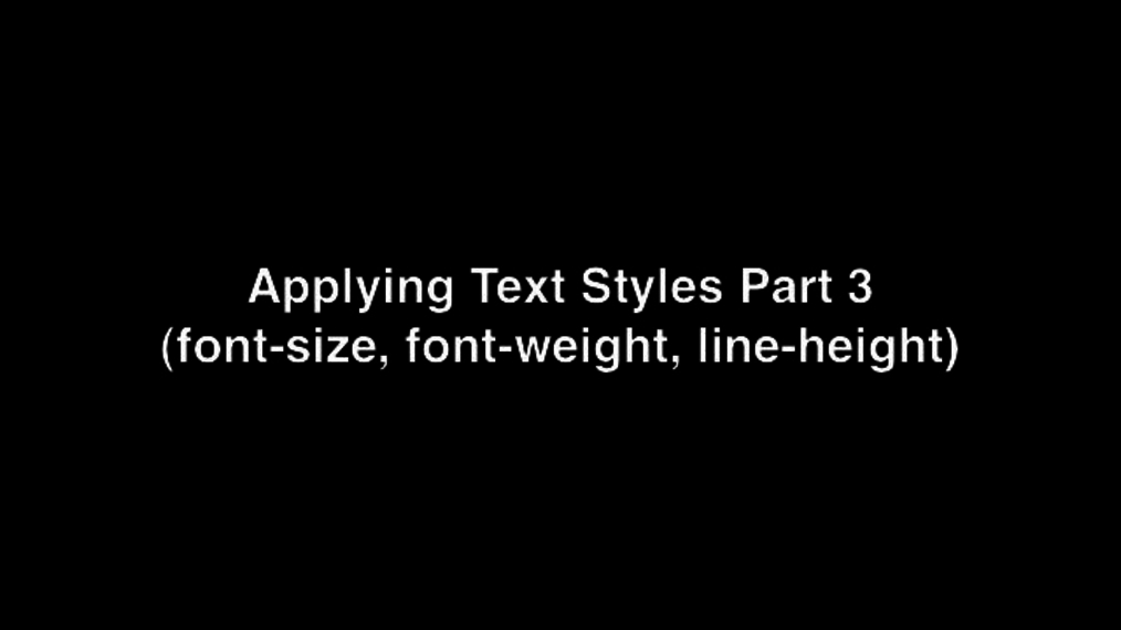 Applying Text Styles Part 3.mp4