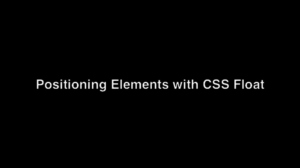 Positioning Elements with CSS Float.mp4