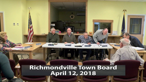 Richmondville Town Board -- April 12,2018