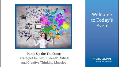 Pump Up the Thinking Webinar- May 16, 2018