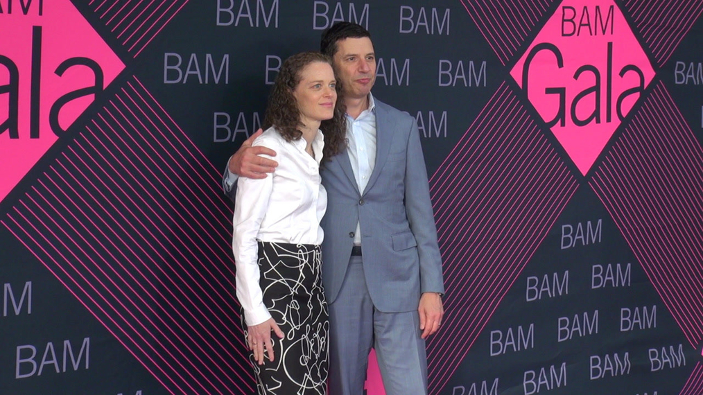 Mark Diker & Deborah Colson attends the BAM Gala 2018 at Brooklyn Cruise Terminal in New York.mp4