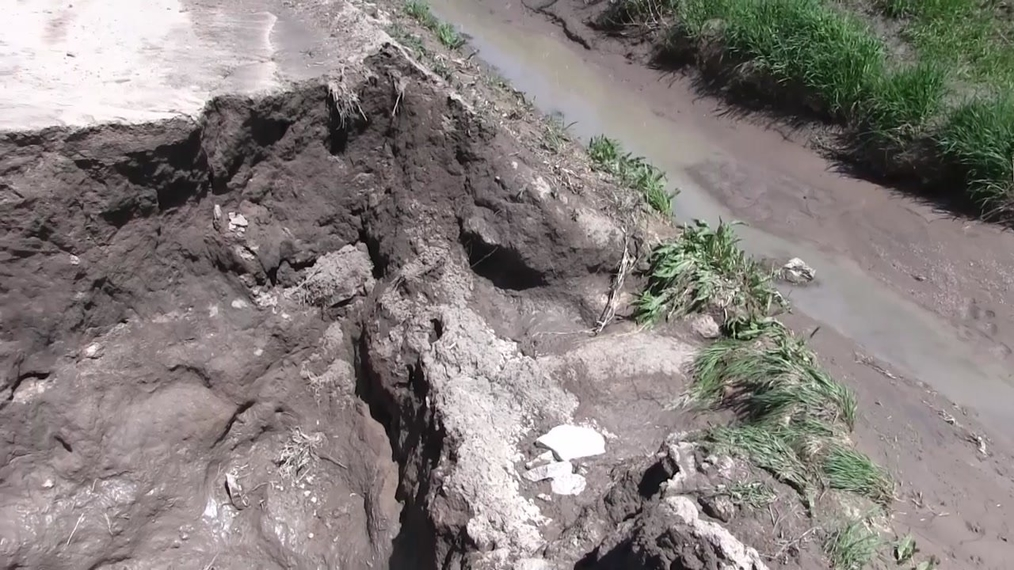 County Road damage from weekend rains