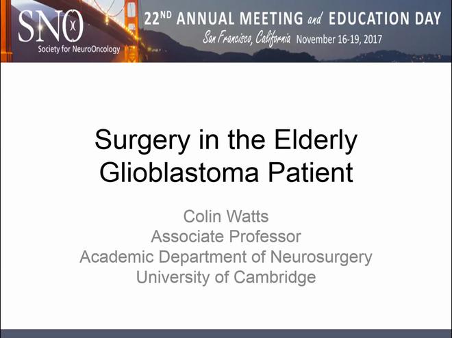 Surgery in the Elderly Glioblastoma Patient