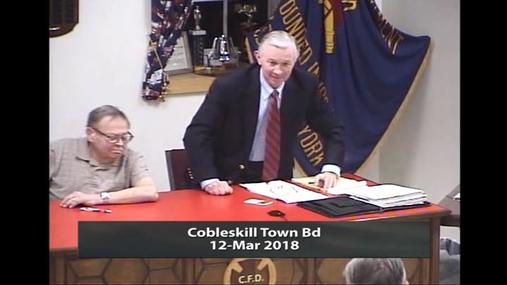 Cobleskill Town Bd -- 12 Mar 2018