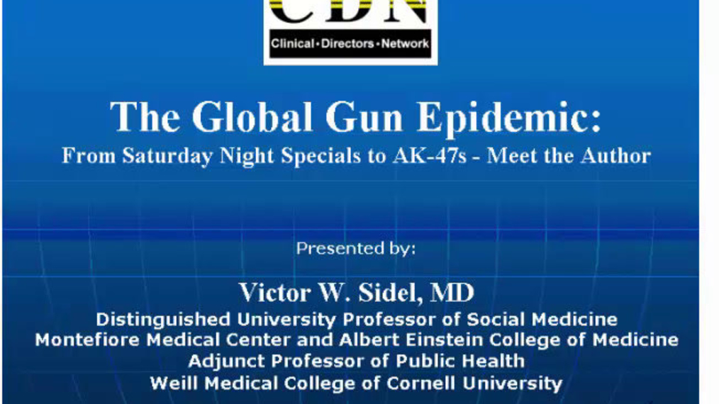 The Global Gun Epidemic: From Saturday Night Specials to AK-47s - Meet the Author