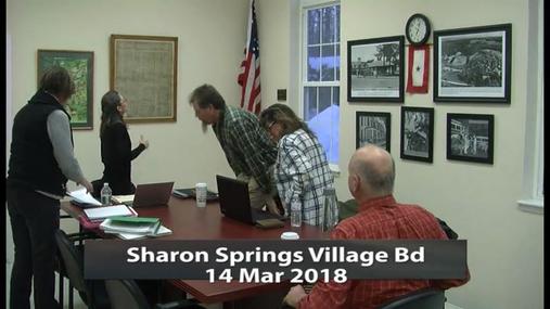 Sharon Springs Village Bd -- 14 Mar 2018