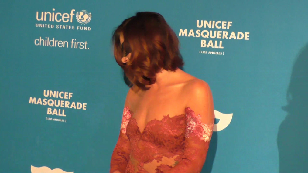 Scout Compton at the 4th Annual UNICEF Masquerade Ball at Clifton's Cafe in Los Angeles.mp4