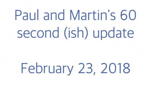 STP 60 second update 23.02.18