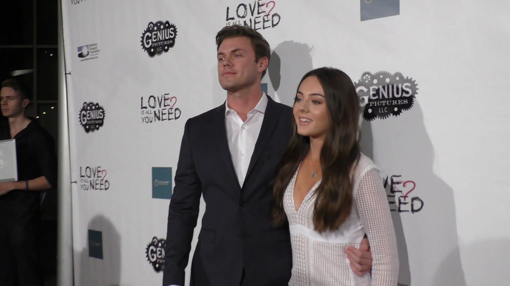 Blake Cooper Griffin and Ava Allan at the Premiere Of Love Is All You Need at the ArcLight Theatre in Hollywood.mp4