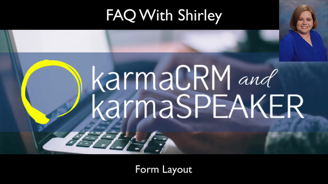 Customizing Forms in karmaCRM and karmaSpeaker