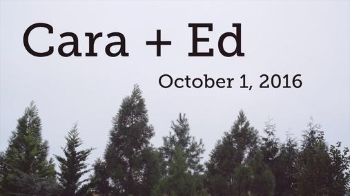 Cara and Ed
