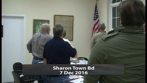 Sharon Town Bd -- 7 Dec 2016