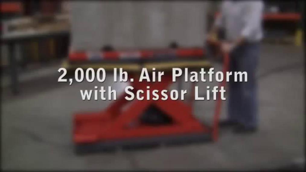 Air Caster Platform with Scissor Lift