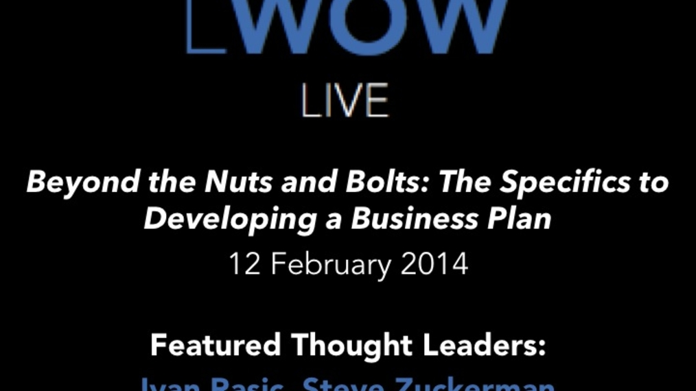 12 Feb 2014: Beyond the Nuts and Bolts: The Specifics to Developing a Business Plan