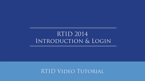 RTID Introduction & Login.mp4