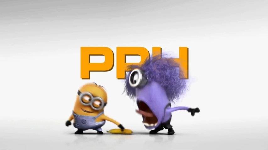 Make a funny evil minion video promo logo