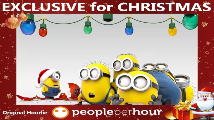 Add your text/logo in this cute Minions Holiday FULL HD Video