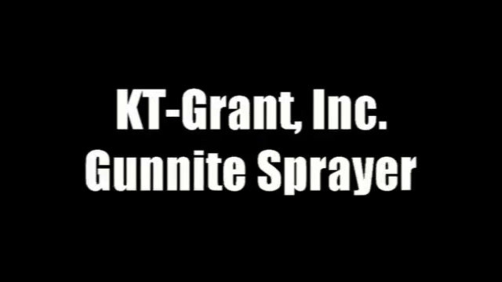 Gunnite sprayer-trough